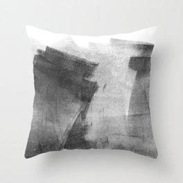 Black and Grey Concrete Texture Urban Minimalist Throw Pillow