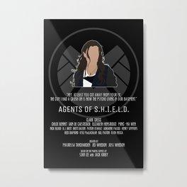 Agents of S.H.I.E.L.D. - Skye Metal Print