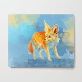 Sound of the Desert - Fennec Fox digital painting Metal Print