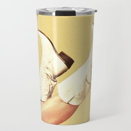 These Boots - Yellow Travel Mug