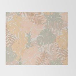 Tropical Boho Minimalism Throw Blanket