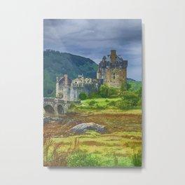 Eilean Donan Watercolour effect 2 Metal Print