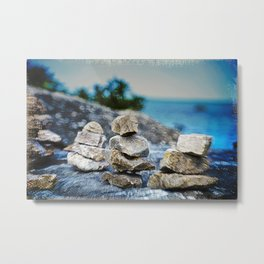 Huron Rock stack Metal Print