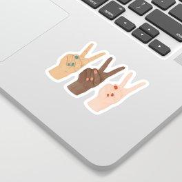Peace Hands Sticker