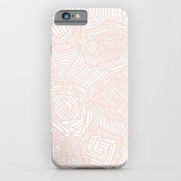 Rose Patchwork Line Art iPhone Case