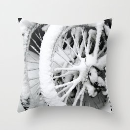 Snow Tires Throw Pillow