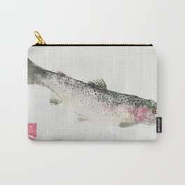 Rainbow Trout Dive - Gyotaku Carry-All Pouch