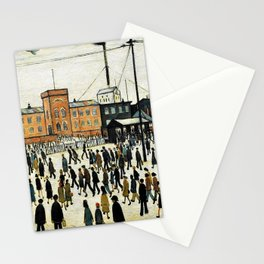 Going to Work by L. S. Lowry Stationery Cards