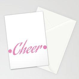 "Cheerleading Tee Perfect Gift For Cheerleaders Saying ""Eat Sleep Cheer"" T-shirt Design Cheers Coach Stationery Cards"