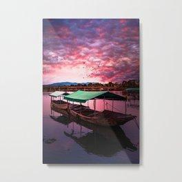 Sunset Boat Water (Color) Metal Print