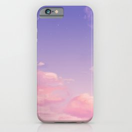 Sky Purple Aesthetic Lofi iPhone Case