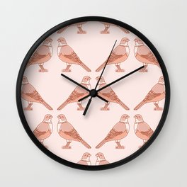 Rufous Bellied Thrush Bird Pattern Wall Clock
