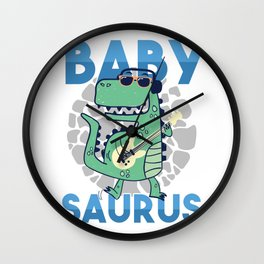Kids Children Trex Dinosaur Dino Gift Babysaurus Wall Clock