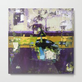 Controversy Prince Deep Purple Abstract Painting Modern Art Metal Print