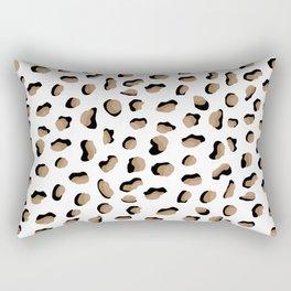 Tiny Leopard Print Rectangular Pillow