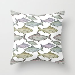 Fish in Ocean Throw Pillow