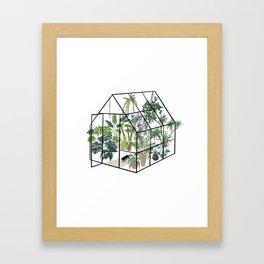 greenhouse with plants Gerahmter Kunstdruck