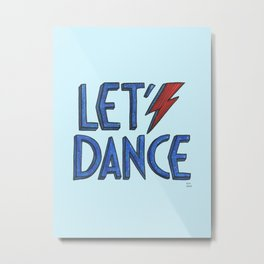 Let´s Dance light blue Metal Print