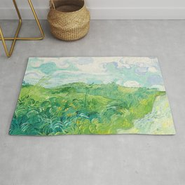 Green Wheat Fields - Auvers, by Vincent van Gogh Rug