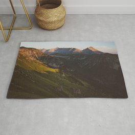Sunset valley - Landscape and Nature Photography Rug
