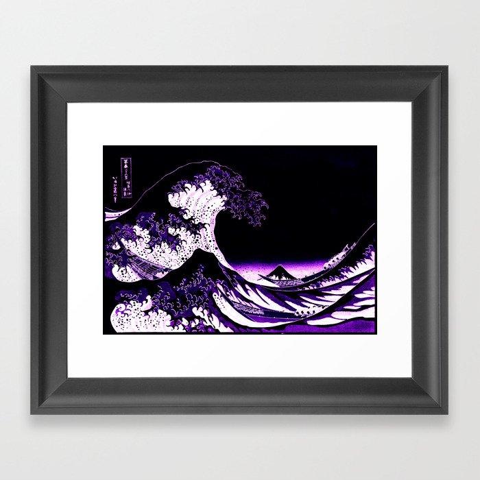 The Great Wave : Purple Gerahmter Kunstdruck