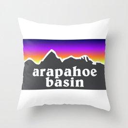 Arapahoe Basin Colorado A Basin Ski Snowboard Resort Keystone Loveland Throw Pillow
