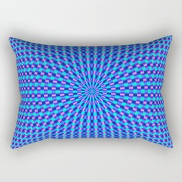 Blue and Violet Rings Rectangular Pillow