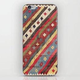 Luri  Antique Fars Southwest Persian Kilim Print iPhone Skin