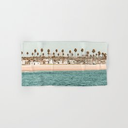 Vintage Newport Beach Print {1 of 4} | Photography Ocean Palm Trees Teal Tropical Summer Sky Hand & Bath Towel