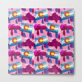 WaterColorado Pink Metal Print