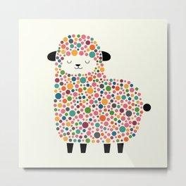 Bubble Sheep Metal Print