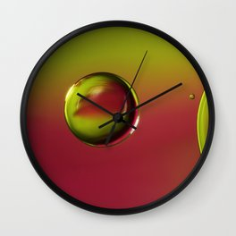 Raspberry with a Lime Twist Wall Clock