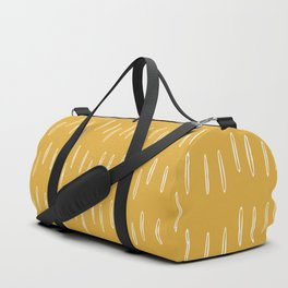 Raindrop Abstract Boho Pattern, Yellow Duffle Bag