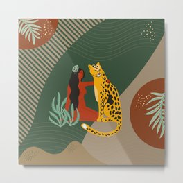 Jungle Abstract Friends Metal Print
