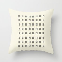 I Ching Chart With 64 Hexagrams (King Wen sequence) Throw Pillow