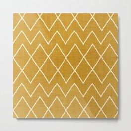 Avoca in Gold Metal Print