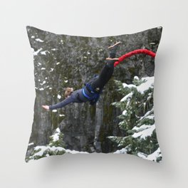 Bungee jump Throw Pillow