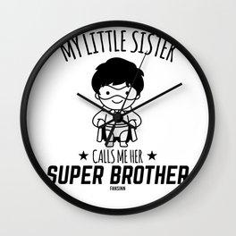 Brother Gift superhero protector Wall Clock