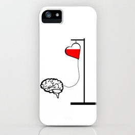 Brain and heart iPhone Case