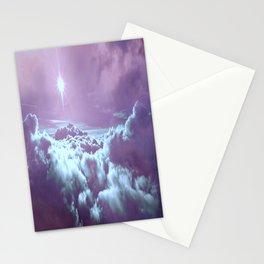 Mystic Clouds Lavender Aqua Stationery Cards