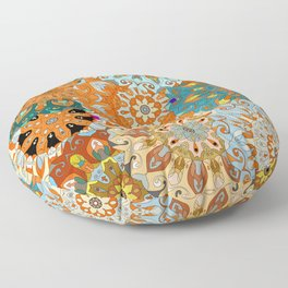 Boho Mandela Pattern 1 Floor Pillow