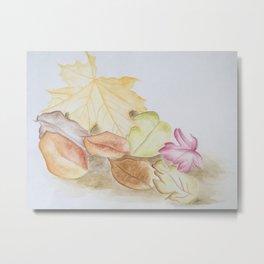 Blätter im Herbst Metal Print