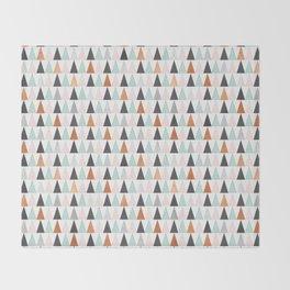 Triangle Trees Throw Blanket