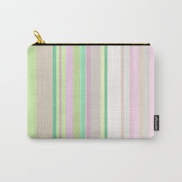 Light grayish green and papaya whip colored stripes Carry-All Pouch