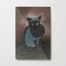 Bath Cat Metal Print