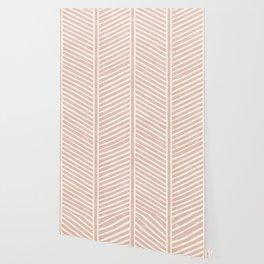 Organic Chevron in Rose Wallpaper