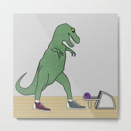 The T-Rex Bowls Metal Print