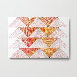 Triangle fingerprint design Metal Print