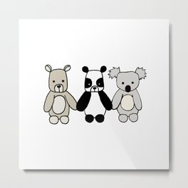 Bear Friends Metal Print