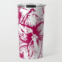 Pattern with flowers of amaryllis Travel Mug